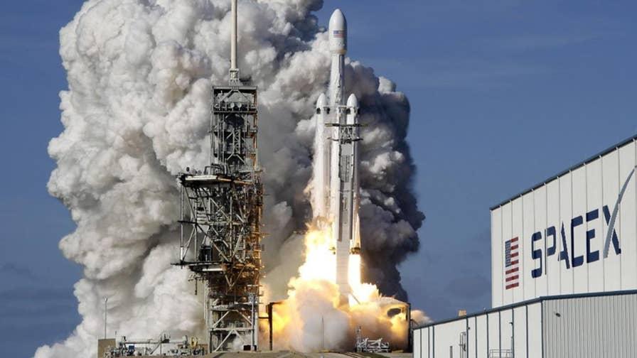Launching the Bangabandhu 1 communications satellite.