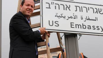 Ceremony for the opening of the United States embassy in Jerusalem coincides with weeks of conflict at the Gaza border; Benjamin Hall reports.