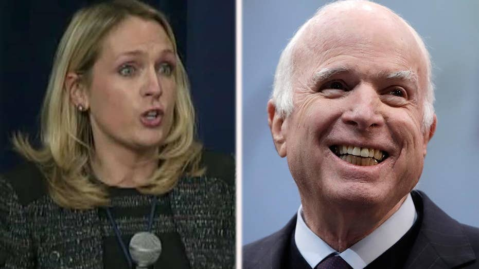 White House faces backlash over comment about McCain