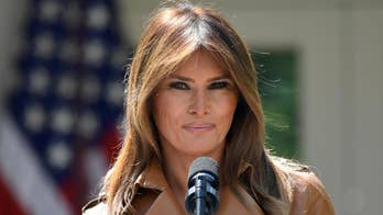 President Trump visits first lady in hospital as she recovers from Kidney surgery; Kristin Fisher reports from Walter Reed Medical Center.