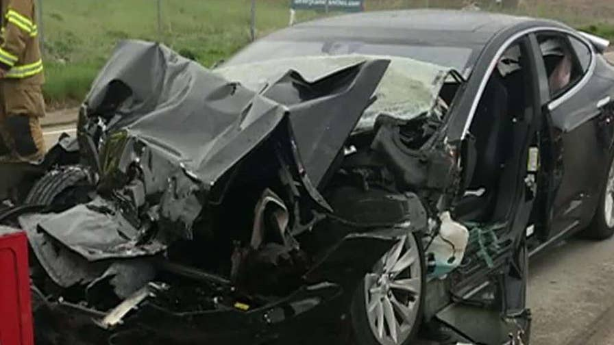 Model S rear-ended a fire department truck at 60 mph.