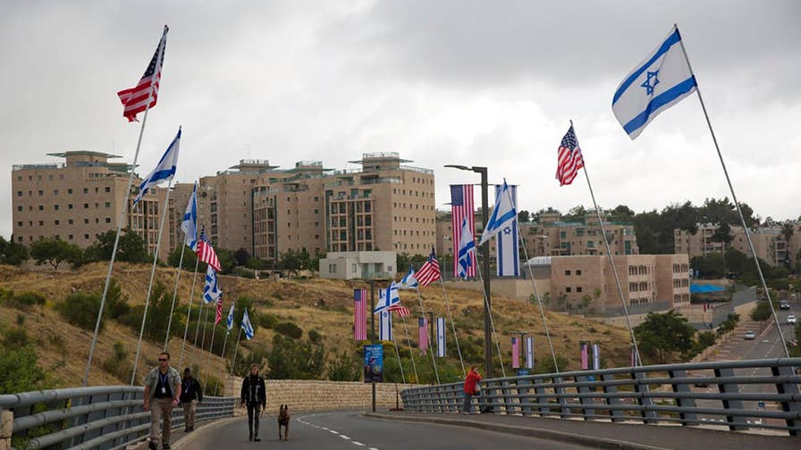Twenty-five years after America first pledged to do so, the new U.S. embassy opened in Jerusalem; Benjamin Hall reports.