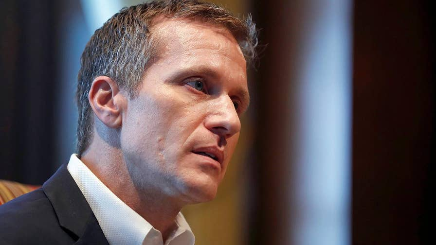 Republican Gov. Eric Greitens was accused of transmitting a nonconsensual photo of a woman with whom he had an affair in 2015; prosecutors say they plan to re-file the case with a special prosecutor.