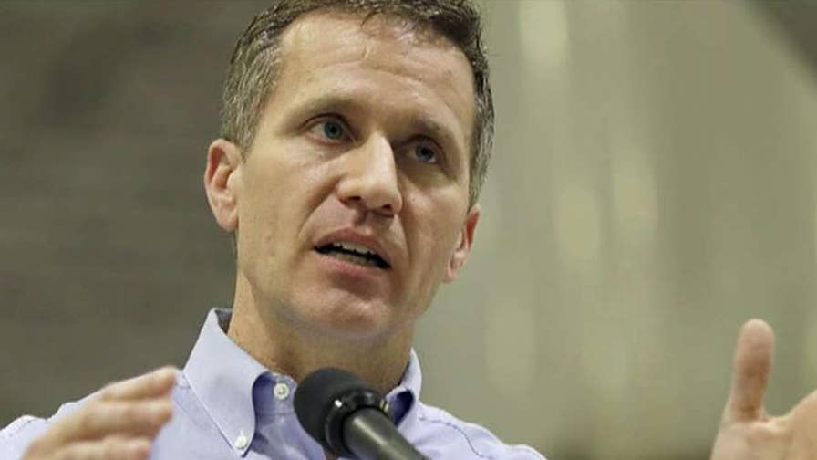 Prosecutors drop criminal charge against Missouri Governor Eric Greitens, plan to re-file; Matt Finn reports from Missouri.