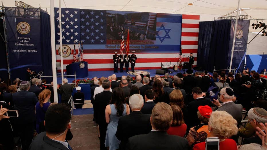 Celebrations, protests mark US embassy move to Jerusalem