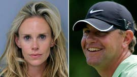 The wife of former U.S. Open champion Lucas Glover is facing a domestic violence charge stemming from a reported fight earlier this month with the golfer -- and his mother.