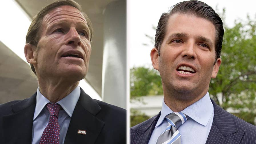Democratic Senator Richard Blumenthal says Donald Trump Jr. 'evaded' and 'contradicted himself'; Ellison Barber reports from Washington.