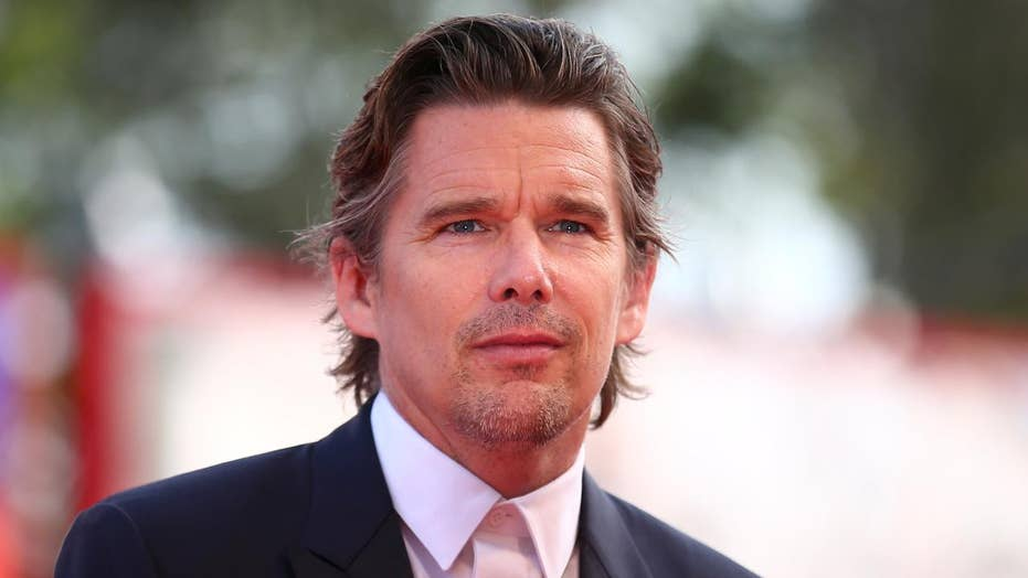 Ethan Hawke says it's hard to sell movies without guns