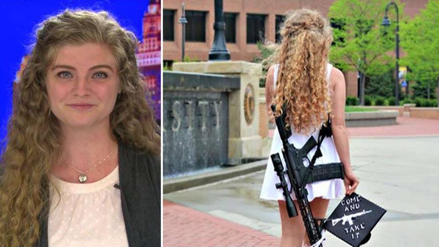 Photos of Kent State graduate with an AR-10 go viral. Kaitlin Bennett fires back at the critics.