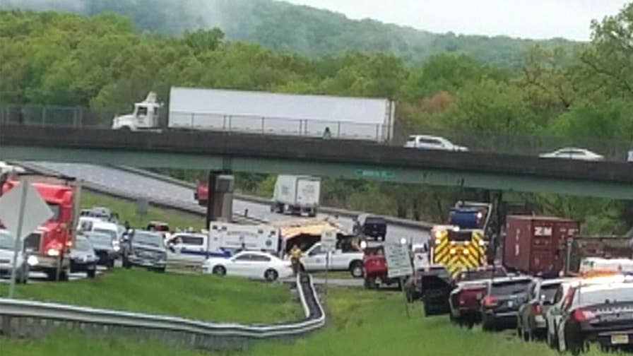 Multiple injuries reported; state police close all lanes of Route 80 in Morris County.