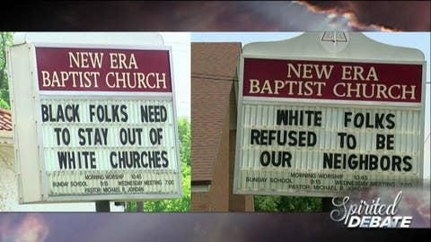Is this pastor's controversial sign an example of 'reverse racism'