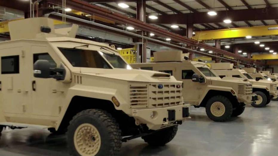 Manufacturer defends police use of military-style equipment