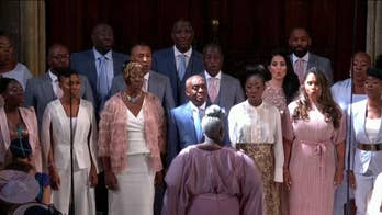The Kingdom Choir sing the R&B classic at the royal wedding of Prince Harry and Meghan Markle in Windsor, England.