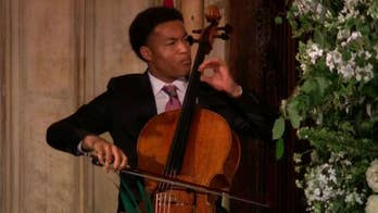 The 19-year-old 'Britain's Got Talent' star, who won the BBC Young Musician of the Year award in 2016, delivered a powerful performance in St. George's Chapel as newlyweds Prince Harry and Meghan Markle signed the register.