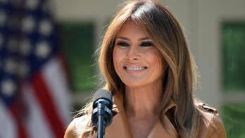 First lady Melania Trump leaves the hospital and thanks well-wishers.