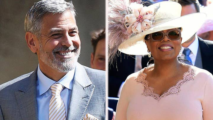 Clooney, Oprah among celebrities attending royal wedding