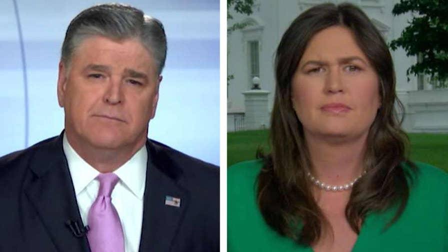 White House press secretary Sarah Sanders calls out media bias and CNN's Jim Acosta on 'Hannity.'