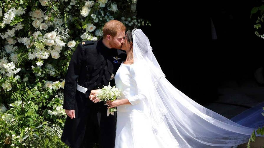 Royal Wedding: A look at Meghan Markle's white bridal gown designed by Givenchy's Clare Waight Keller for her wedding to Prince Harry at St George's Chapel in Windsor.