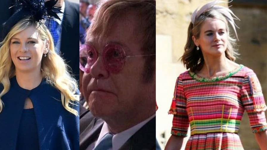Royal Wedding: From Oprah to Posh Spice, a look at the star-studded guest list that included two of Prince Harry's ex-girlfriends. Then a closer look at Elton John and his viral frown.