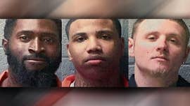 One of three inmates who escaped from a South Carolina prison was captured Sunday night after authorities launched a dragnet&#x3b; but the other two inmates, both murder suspects, remained on the loose.