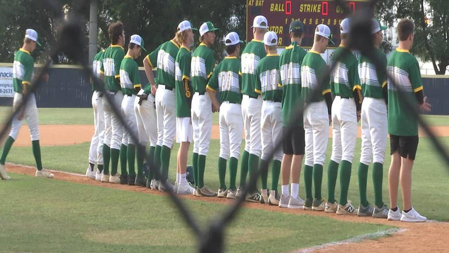 Santa Fe High School's baseball team played a playoff game just 36 hours after a gunmen killed 10 people inside their school