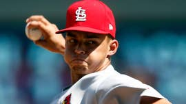 A relief pitcher for the St. Louis Cardinals on Sunday lit up the radar gun with two pitches registering at 105 mph in the team's 5-1 win over the Philadelphia Phillies.