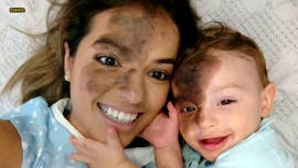 A mom paid tribute to her son by having a perfect replica of his birthmark painted on her face, so she could walk in his shoes for a day.