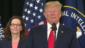 President Trump speaks at swearing-in ceremony for incoming CIA director Gina Haspel.