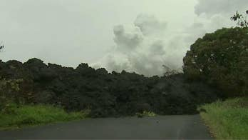 Officials warn of toxic steam cloud as lava flows into ocean; Jeff Paul reports from Pahoa, Hawaii.
