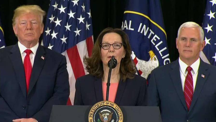 First woman to serve as CIA director lays out her vision for the agency at her swearing-in ceremony in Langley, Virginia.