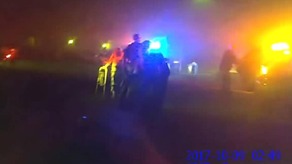 Body cam video shows dramatic escape from Napa wildfires