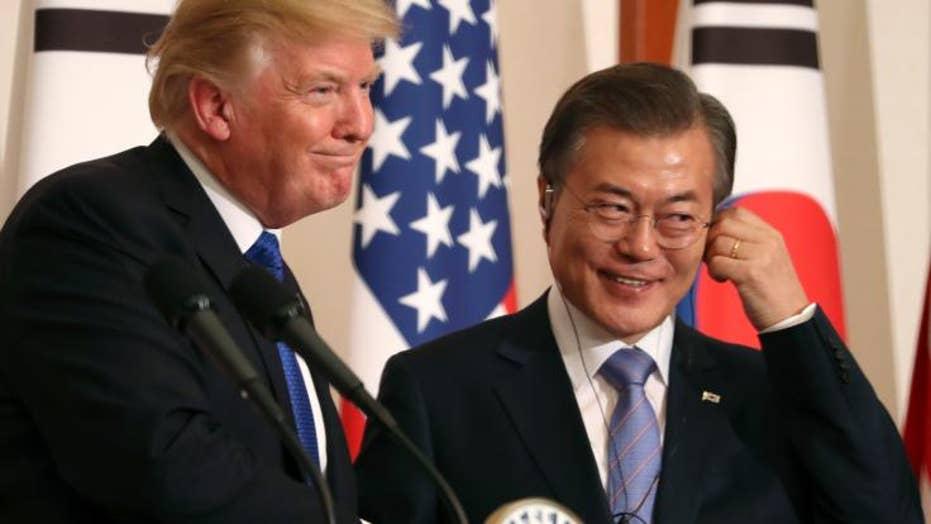 Moon urges Trump to keep North Korea summit on track