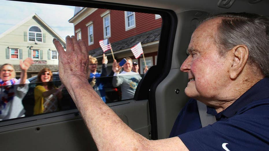 George H. W. Bush returns to his summer home in Maine