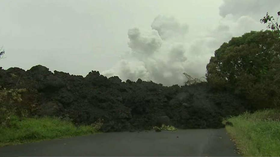 Lava flow blocks important coastal highway in Hawaii
