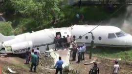 Honduras' emergency management commission says rescuers have responded to the crash of a private jet at Tegucigalpa's airport.