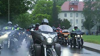 Special charity motorcycle ride hit the roads to honor American servicemembers stationed overseas.