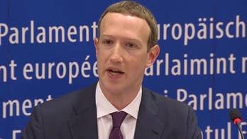 Facebook CEO speaks at hearing in Brussels on how the social giant handles Europeans' data.