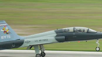 The Air Force T-38 Talon II crashed in a remote area near the Columbus Air Force Base, Mississippi.