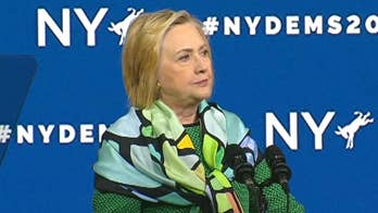 Hillary Clinton endorses Andrew Cuomo for governor of New York at the NY State Democratic Convention.