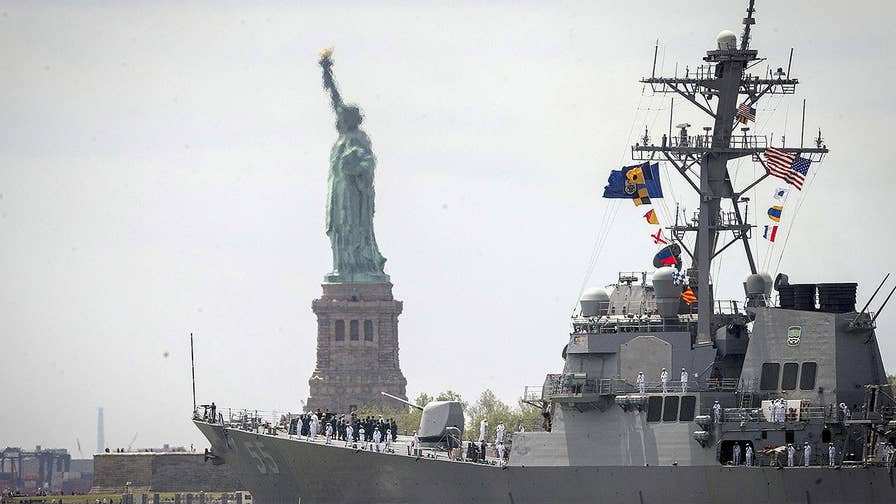 Todd Piro reports on the parade of ships in New York City.