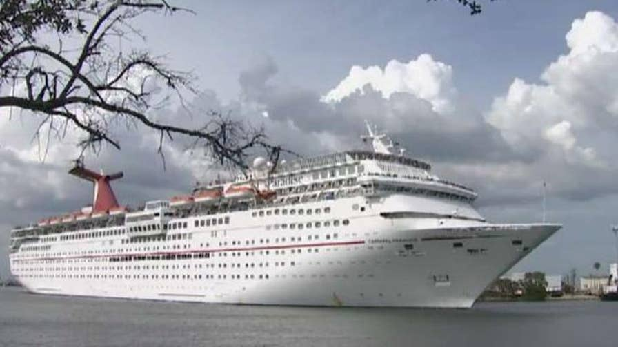 The Coast Guard working to locate a North Carolina man who reportedly fell overboard as the Carnival Paradise was sailing from Tampa to Key West.