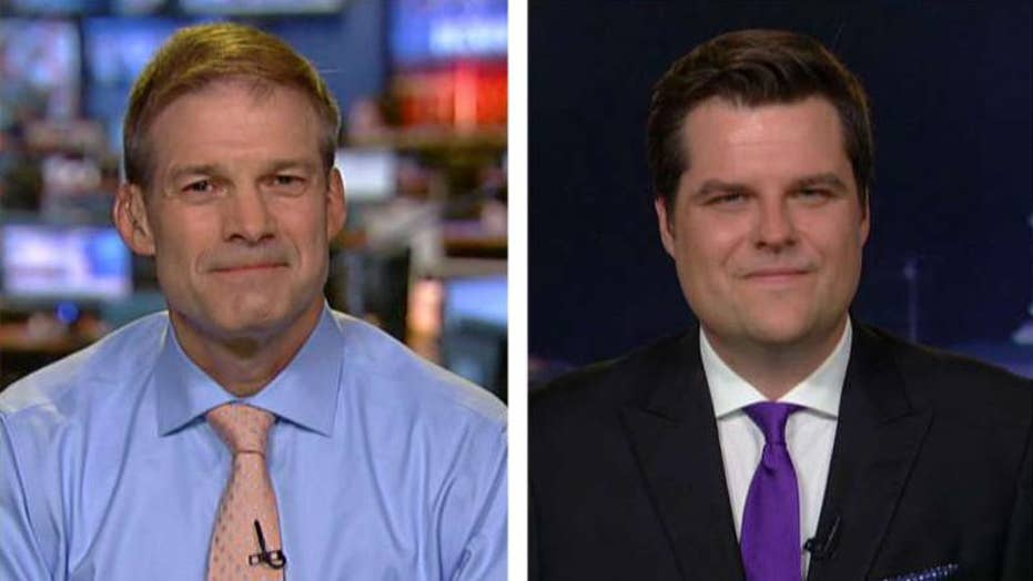 Reps. Jordan, Gaetz on demand for second special counsel