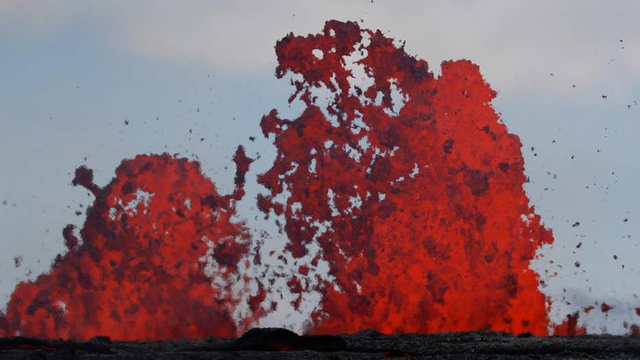 Lava fissures threatening major Hawaiian power plant