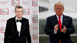 """Author Stephen King told """"Late Show"""" host Stephen Colbert that President Trump blocked him on Twitter following a crude comment he made to him."""