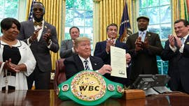 "President Trump on Thursday granted a posthumous pardon to Jack Johnson, boxing's first black heavyweight champion, after being urged to do so by ""Rocky"" actor Sylvester Stallone."