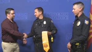 Veteran thanks Arizona police officers three years after they talked him down from suicide.