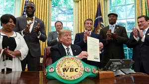 Trump issued an executive grant of clemency to John Arthur 'Jack' Johnson, the first African American heavyweight champion of the world, for a Mann Act conviction.