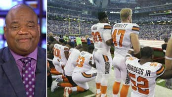 Fox Sports 1's Jason Whitlock weighs in on the NFL's decision to require players to stand for the national anthem if they are on the field, tells Tucker better options could have been explored, like refusing to let kneeling players play. #Tucker