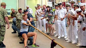 Annual Fleet Week tug-of-war.