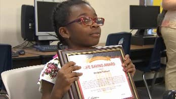 Firefighters in Phoenix, Arizona praise Monibelle Townsend for helping her 6-year-old autistic brother and her grandmother escape their burning apartment.